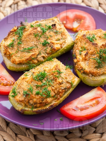 Пълнени тиквички с картофи - снимка на рецептата